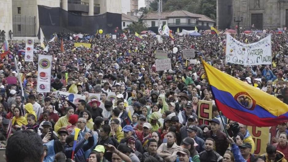 Movilización en Colombia